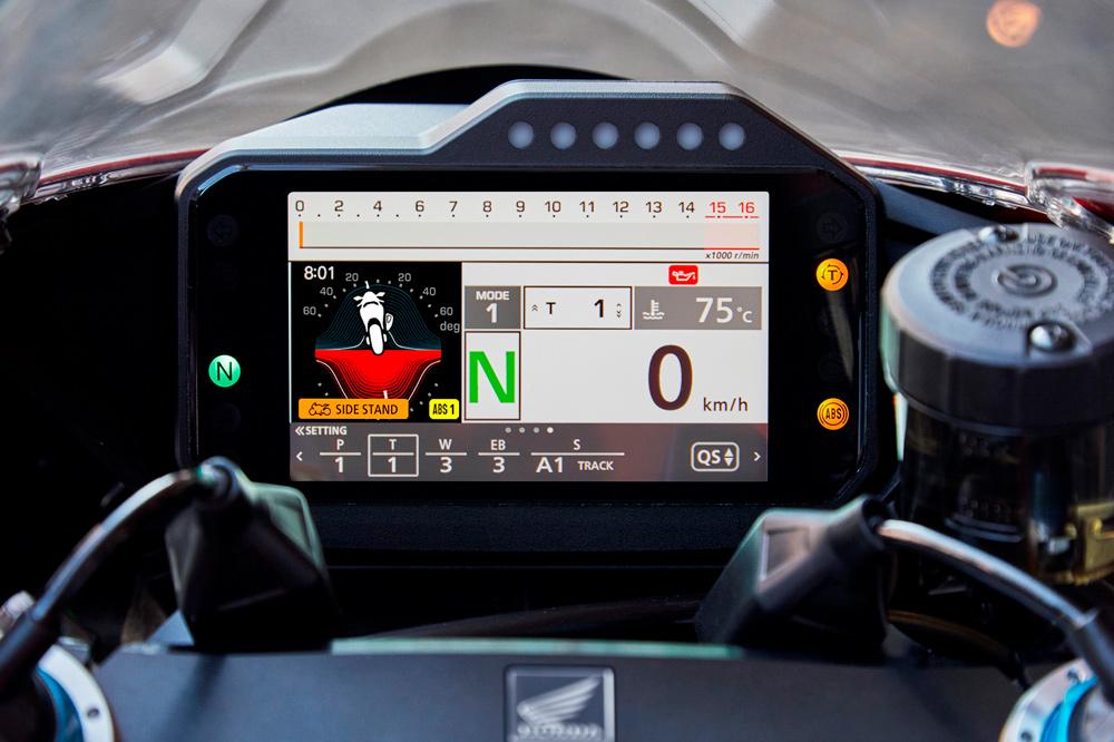 Cuadro de Instrumentos de la Honda CBR 1000 RR-R