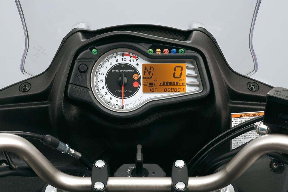 Instrumentación de la Suzuki DL V Strom 650