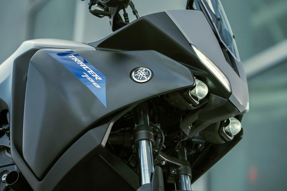 Detalle del carenado de la Yamaha Tracer 700