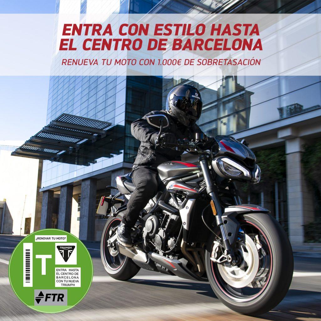 Renueva tu moto en Barcelona con Triumph