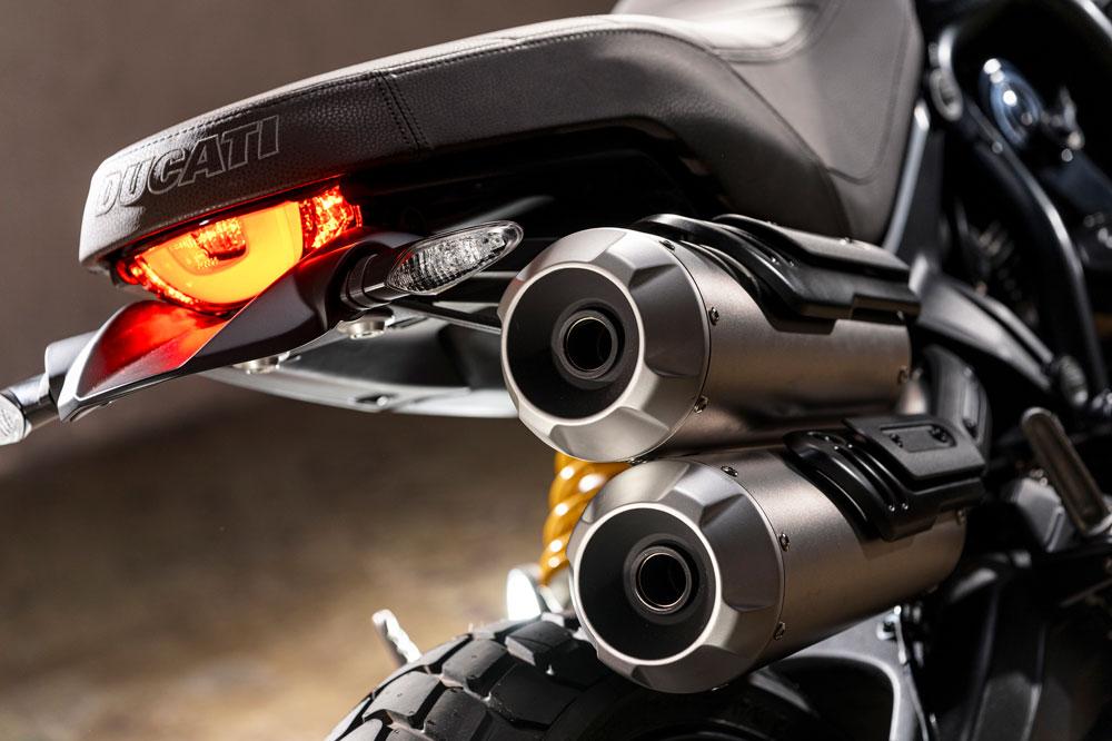 Detalle de la Ducati Scrambler Pro 2020
