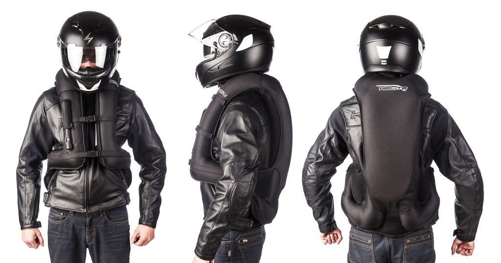chaleco con airbag para moto