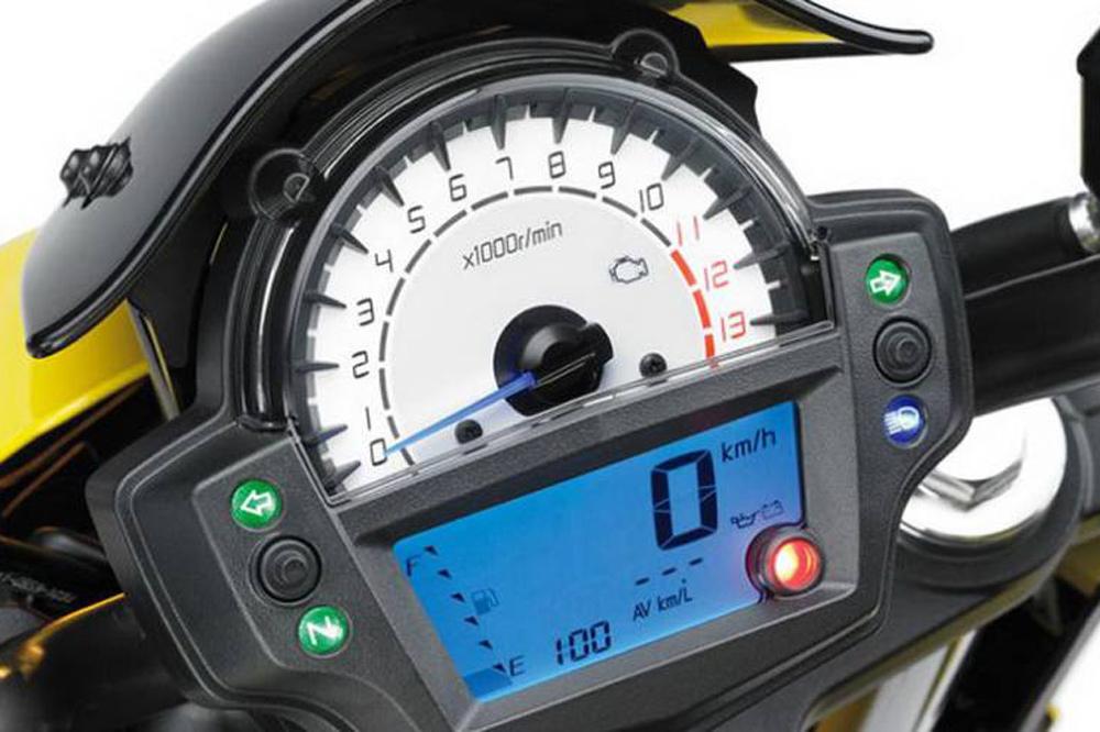 Instrumentación de la Kawasaki ER6N 2012