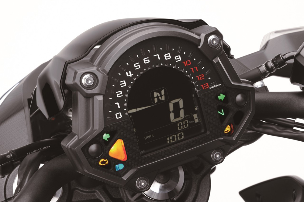 Cuadro de instrumentos de la Kawasaki Z 650 2017