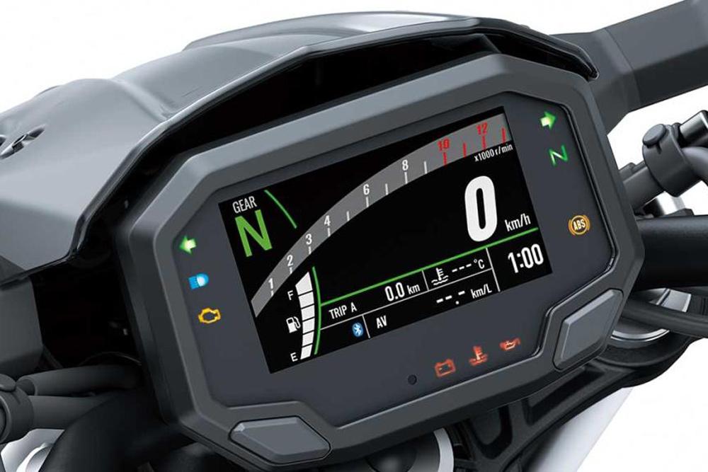 Cuadro instrumentos de la Kawasaki Z 650 2020