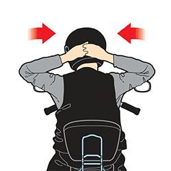ejercicio prevenir contractura trapecio motorista