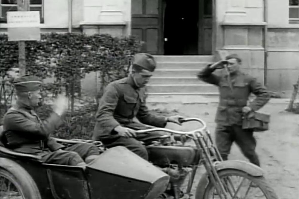 Harley Davidson de uso militar durante la I Guerra Mundial